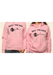 BEST FRIENDS ROSE Barátnős Pulóver