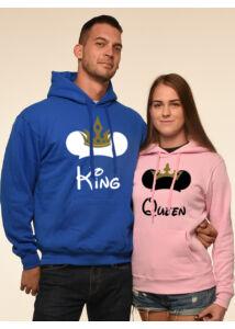 Mickey King Queen Páros Pulóver